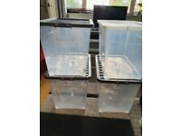 4 storage strong box 80 litre plastic crates