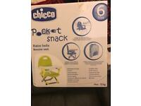 Brand new chicco pocket snack booster seat