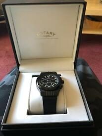 MENS ROTARY FUSION CHRONOGRAPH RUBBER STRAP WATCH GS03623/C/19