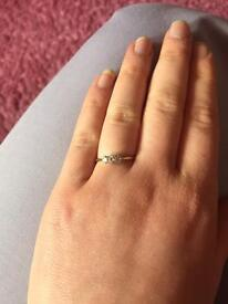 Real gold & diamond engagement ring OTO