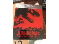 Jurassic park trilogy metal tin