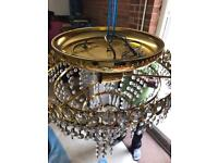 Crystal light chandeliers X2 bought £250 each brand new selling FOR JUST £50 EACH