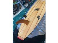 "Balsa wood surf board 9ft 7"""