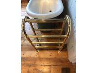 Heated brass towel rail