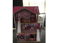 Amelia dolls house with some furniture