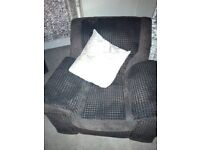 Brown sofa and recliner chairs