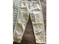 Women's cream jeans river island size 14