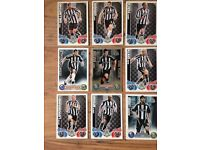 Football trading cards Newcastle topps match attax