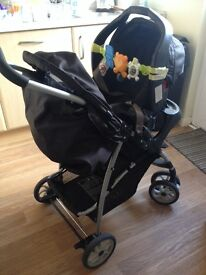 Garaco pushchair travel system with baby car seat ( excellent condition)
