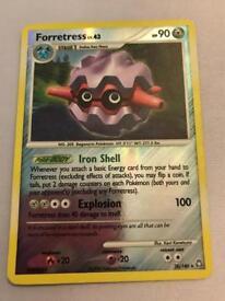 Forretress Pokemon card. Rare