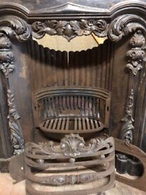 French style cast-iron fireplace