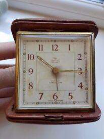 Antique Travel Clock - Vintage - Smiths De Luxe