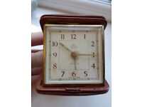 Antique Travel Clock - Vintage - Smiths De Luxe