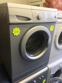 ***Silver Curry's Essentials 5kg 1000spin washing machine***Free Delivery**Fitting**Removal