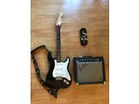 Fender Stratocaster Mexican 2010 With Case + Fender Amp + Cable