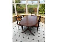 FREE!! Solid wood extendable 6 seater dining table
