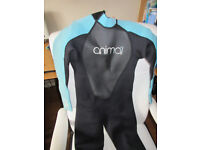 Animal Junior Nova Wetsuit Boys Age 9-11