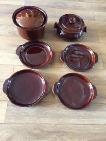 Denmead pottery / Simpson casserole dishes and plates