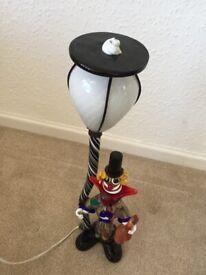 Vintage Murano 'Drunken Clown' Glass Lamp