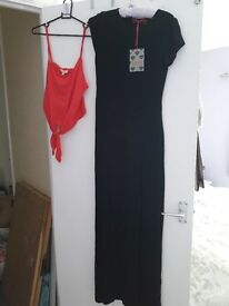 brand new with tags maxi dress and crop top size 10!