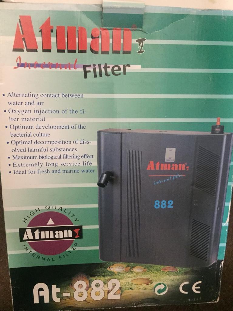 Brand new atman 882 internal fish tank filter