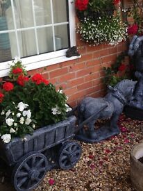 Gorgeous large horse and cart statues to order