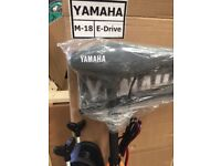 OUTBOARD YAMAHA M18 E-DRIVE 34 LBS THRUST BATTERY POWER - NEW IN ORIGINAL BOX
