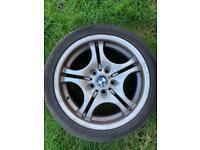 Genuine bmw 17inch 8.5j m performance alloy wheel.