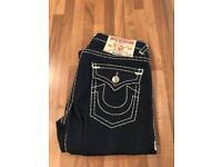 True religion navy jeans 32/34 free P&P