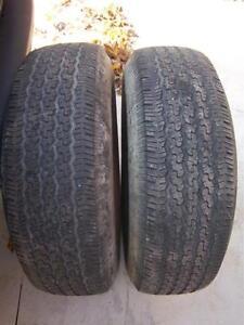 Pair of Michelin LTX A/S P245/75/R16 M+S tires