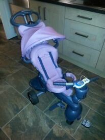 Smart trike purple as new only used twice. 4 in 1 from mothercare £40 tel 07756985177