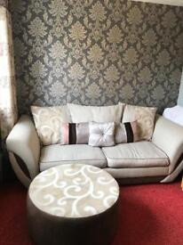 DFS Sofa Bed + Foot stool