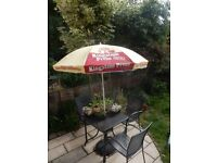 FREE DELIVERY KINGSTONE PRESS CIDER PARASOL with TILT LARGE RUGBY CHAMPIONSHIP BREWING PUB BREWERY