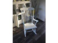 Beautiful rocking chair antique cream