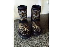 Black designer boots