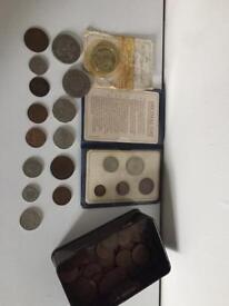 Coin collection.