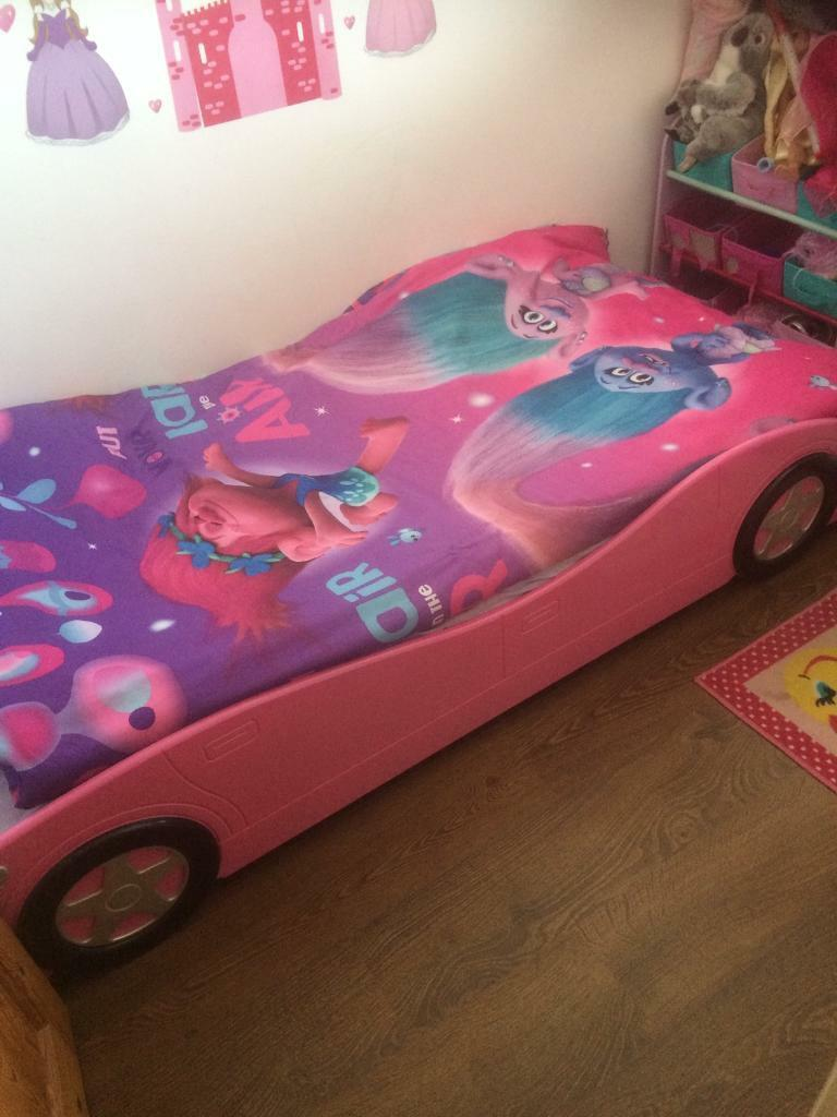 Girls Pink Car Bed In Poole Dorset Gumtree