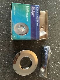 Chrome shower downlight - brand new