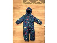 Great condition, All in one outdoor rain/wind suit. 18-24 months