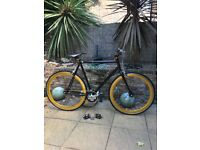 CREATE BLACK & GOLD Fixed or free cycle fixie-open to reasonable offers-can deliver within 15 miles