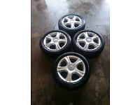 "Seat Ibiza 15"" 5 Stud Alloy Wheels Tyres 195/55/15 Tread 7, 5, 5, 4 mm"