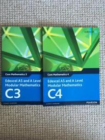 Edexcel A level maths textbook bundle- C3,C4