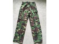 Army trousers - large boys/small mens