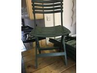 Chairs fold up plastic. Great for Xmas spares