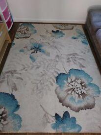 Turquoise rug large 160x230