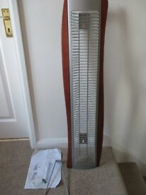 TECHPOINT TEAK LOOK WOOD & METAL CD STORAGE RACK HOLDS 60 90 cm H GOOD USED COLLECT ONLY BENFLEET