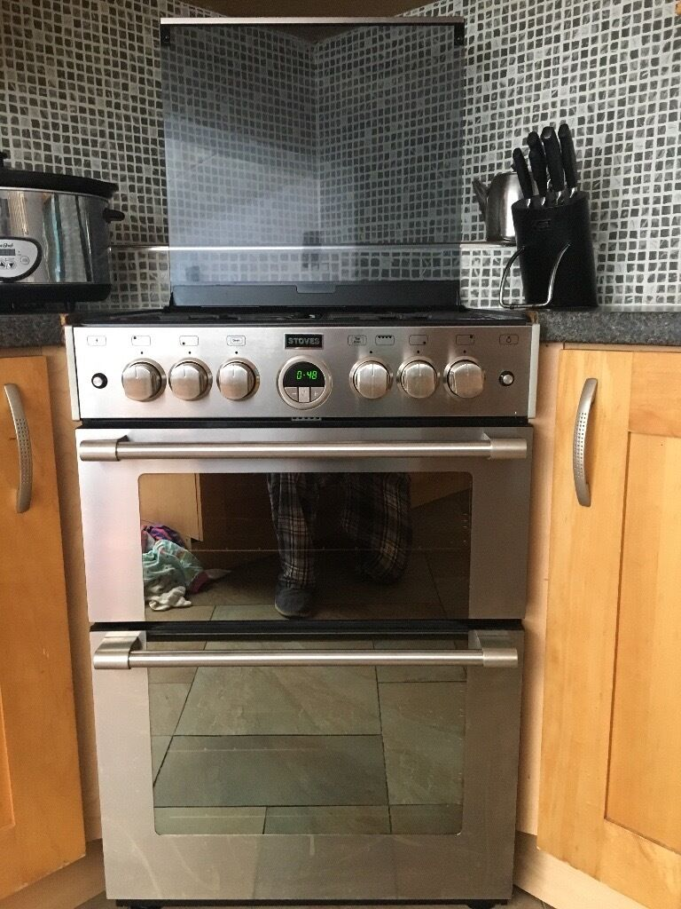 Freestanding Gas Stove Stoves Sterling Gas Cooker 4 Ring Hob Grill Oven 1yr Old