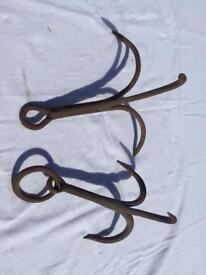 Vintage grappling hooks