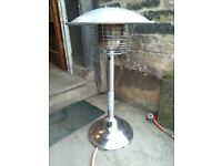 Patio heater for table top
