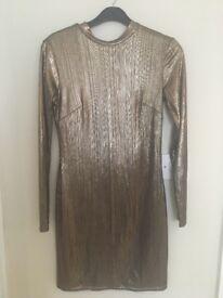 Metallic bronze dress